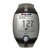 Polar FT1 Heart Rate Monitor, Black, 1 ea