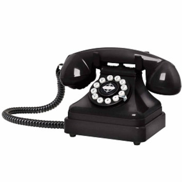Crosley Radio Kettle Classic Desk Phone, Black, 1 ea