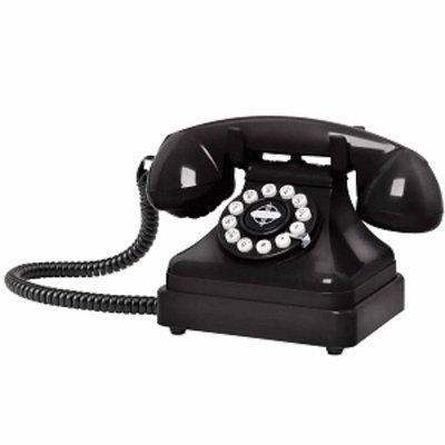 Crosley Radio Kettle Classic Desk Phone, Black, 1 ea