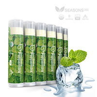 LIP BALM (6 PACK) Peppermint Natural & Organic: Compares to eos