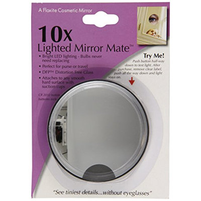 Floxite Fl-10lmm3 10x Led Lighted Mirror Mate With Suction Cups