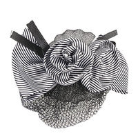 Uxcell Women Headwear Striped Pattern Floral Mesh Hair Clip
