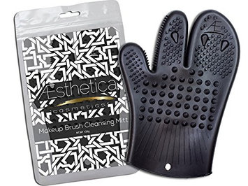 Aesthetica Cosmetics Makeup Brush Cleansing Mitt - Silicone Brush Cleaning Glove - Eco-friendly