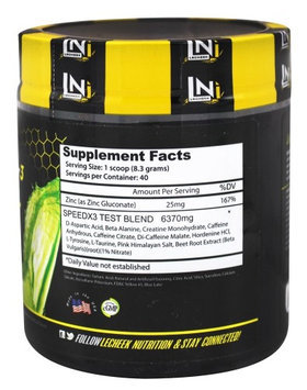 Lecheek Nutrition - Speed X3 Test Pre-Workout Apple - 11.7 oz.