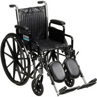 Drive Medical SSP216DDA-ELR Silver Sport 2 Wheelchair with Various Arms Styles and Front Rigging Options Steel