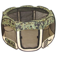 Bestpet Camouflage Pet Dog Cat Tent Puppy Playpen Exercise Pen M