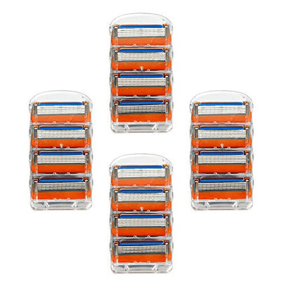 Zlice Manual Men's Replacement Razor Blade Refills Compatible with Gillette Fusion (16 Count)