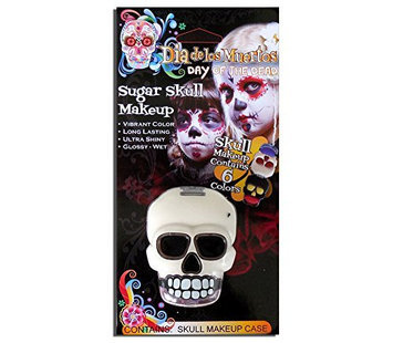 Day of the Dead Skelton Compact with Makeup