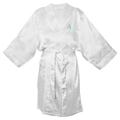 Personalized White Satin Robe