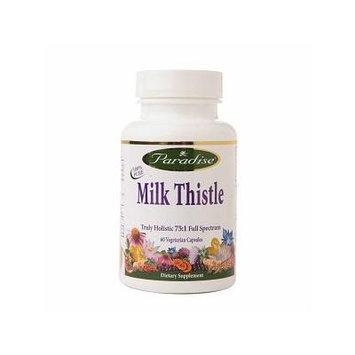 Paradise Herbs Milk Thistle Truly Holistic 75:1, Veggie Caps 60 ea