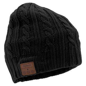 Tenergy Cable Knit Bluetooth Beanie w/ Built-in Speakers - Black