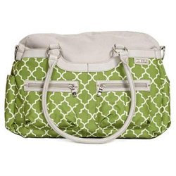 JJ Cole Satchel Canvas- Aspen Arbor - Green Diaper Bag