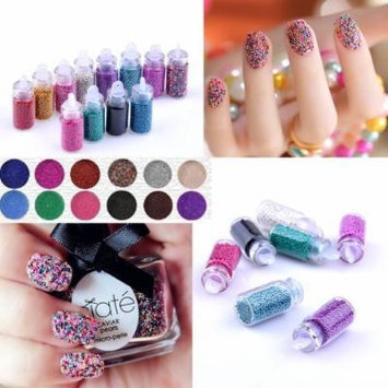 12 colors Bottled Caviar Nail Art Plastic Ball Beads Manicure Pedicure 3D Decoration Accessories By Catalina