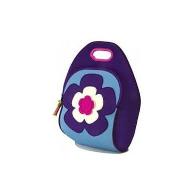 Dabbawalla Bags Flower Power II Lunch Bag, Purple/Blue