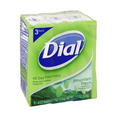 Dial® All Day Freshness Mountain Fresh Antibacterial Deodorant Soap Bars