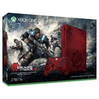 Microsoft Corp. Xbox One S 2TB Console - Gears of War 4 Limited Edition Bundle, Red