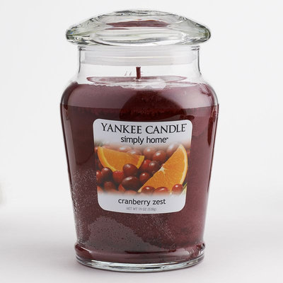 Yankee Candle simply home Cranberry Zest 19-oz. Jar Candle (Red)