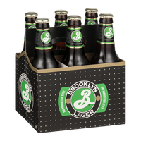 Brooklyn Brand Lager Beer Bottles - 6 CT