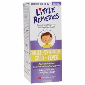 Little Remedies Cold & Fever (Acetaminophen Dextromethorphan / Phenylephrine), Natural Berry Flavor, 4 fl oz