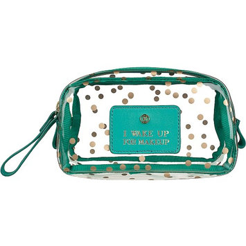 Boulevard I Wake Up for Makeup Gumdrop Glass Bag Confetti with Mint Leather - Boulevard Ladies Cosmetic Bags