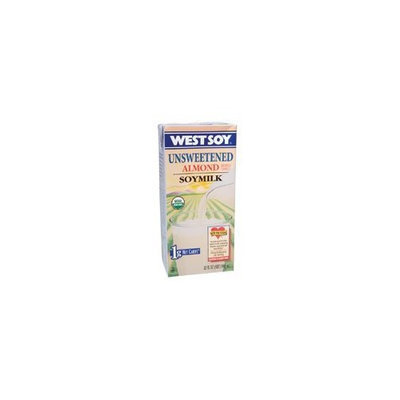 Westsoy Organic Almond Unsweetened Westsoy ( 12x32 OZ) ( Value Bulk Multi-pack)
