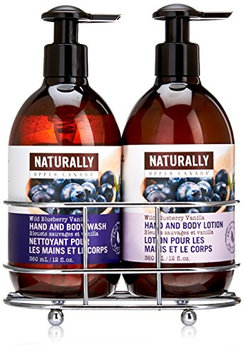 Naturally Hand Wash and Lotion with Caddy Gift Set