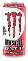 Muscle Monster Strawberry Energy Shake