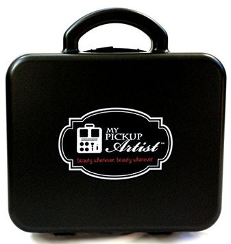 My Pick Up Artist Sport Case - Compact Portable Beauty & Make-Up Organizer for Travel - Holds Up to 10 Pieces - Raven Black