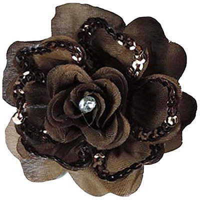 Linda Fashion Beiges and Browns Flower Pin Hair Clip