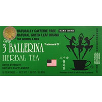 3 Ballerina Diet Tea Extra Strength for Men and Women (6 Boxes x 18 Bags)