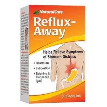NaturalCare Homeopathic Reflux-Away Capsules, 60-Count Packages (Pack of 2)