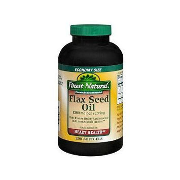 Finest Natural Flax Seed Oil 1300mg Softgels 200 ea