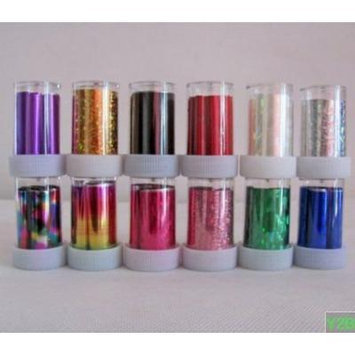 12 Rolls Mix colors Nail Art Transfer Foil Set Nail Tip Decoration New Fashion from Y2B