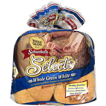 Schwebel's Schwebel?s Selects Whole Grain White Buns, 20 oz