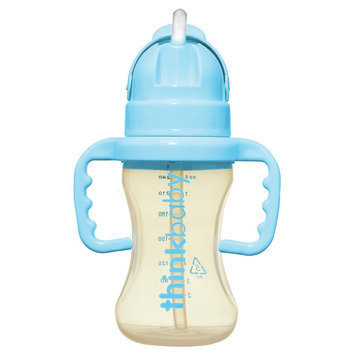 Thinkster Straw Bottles 9 oz Lt Blue thinkbaby 1 Bottle