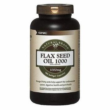 GNC Natural Brand Flax Seed Oil 1000, Softgel Capsules 180 ea