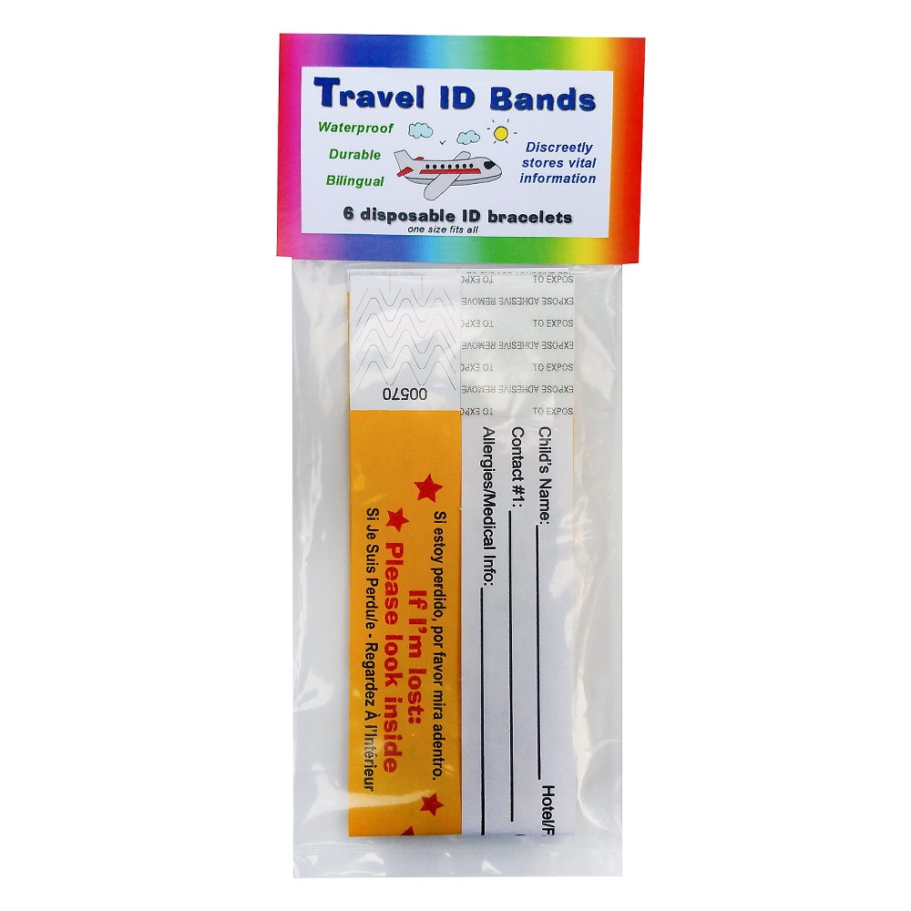 Kenson Kids Travel ID Bands 6-Pack KPSID6000