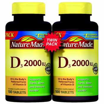 Nature Made Vitamin D3 2000 IU Supplement Tablets