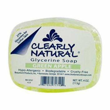 Clearly Naturals Clearly Natural Glycerine Bar Soap Green Apple 4 oz