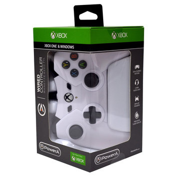 Power A XB1 Controller Wired Green XBox One