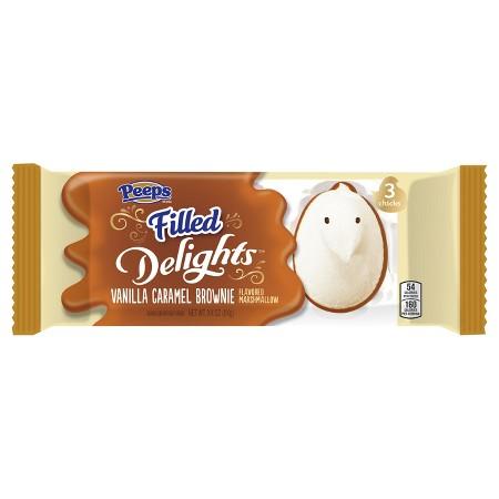 PEEPS Delights Vanilla Caramel Brownie Filled Easter Chicks