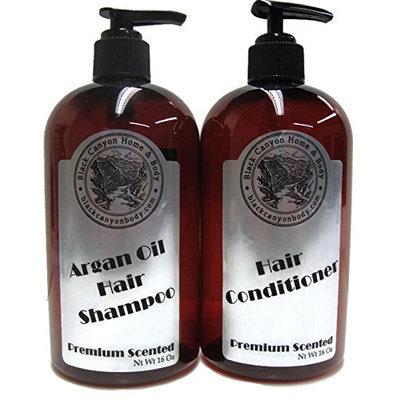 Black Canyon Argan Oil Shampoo & Hair Conditioner 32 Oz Set (16 Oz Ea) (Banana Taffy)