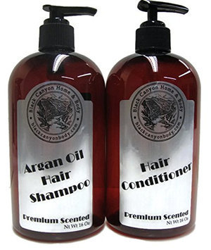 Black Canyon Argan Oil Shampoo (16 Oz) & Hair Conditioner (16 OZ) Set 32 Oz (Black Currant Vanilla)