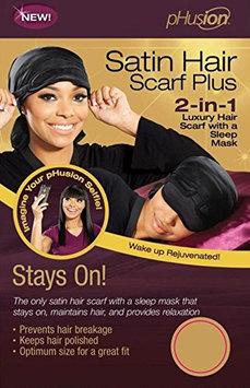 pHusion Luxury Satin Hair Scarf Plus Black MC