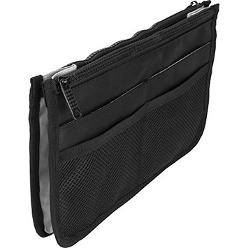 Casemetic PC05 Mini Travel Makeup Bag Purse Organizer with 2 Zippered Closure Pouches and 8 External Pockets