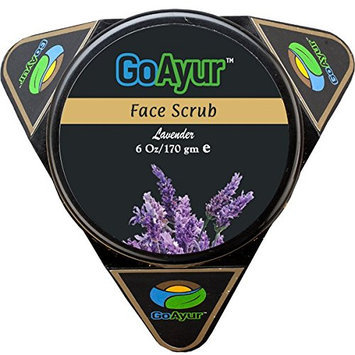 GoAyur Lavender Ayurvedic Face Scrub - 6 oz Natural Exfoliating & Herbal Face Scrub