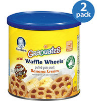 Gerber Graduates Waffle Wheels Banana Cream Puffed Grain Snacks