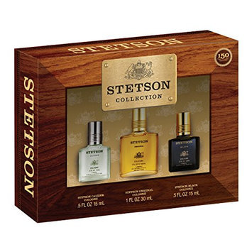 Stetson 3 Piece Gift Set (0.5 Ounce Black CP Plus 0.5 Ounce Caliber CP Plus 1 Ounce Stetson CP)