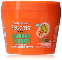 Garnier Skin and Hair Care Fructis Damage Eraser Strength Reconstructing Butter Hair Mask for Distressed and Damaged Hair