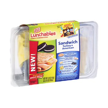 Lunchables Oscar Mayer Sandwich Turkey + American